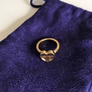 Tory Burch Gold Heart Ring Size 6